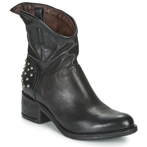 Zapatos Mujer Botas de caña baja Airstep / A.S.98 OPEA STUDS Negro