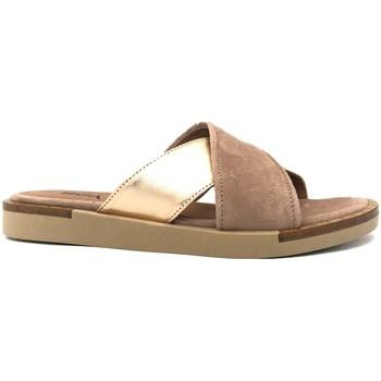 Zapatos Mujer Zuecos (Mules) Ngy sandales ANNY Laminado Cipria Rosa