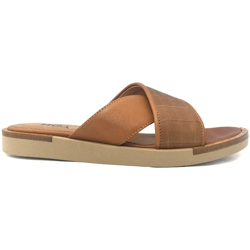 Zapatos Mujer Zuecos (Mules) Ngy sandales ANNY Trucco Camel Marrón