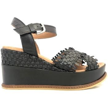Zapatos Mujer Sandalias Ngy sandales SOLENA Metal Noir Negro