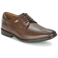 Zapatos Hombre Derbie Clarks GOSWORTH OVER Marrón