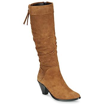 Zapatos Mujer Botas urbanas Regard RAKAFOU V2 CRTE VEL SILKY Camel