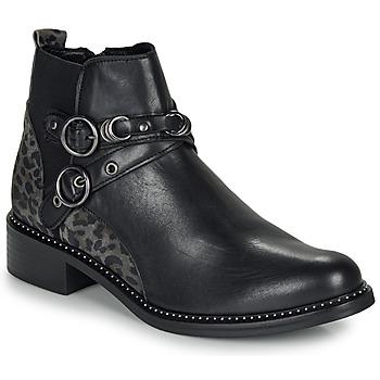 Zapatos Mujer Botas de caña baja Regard ROABIL V2 METALCRIS Negro