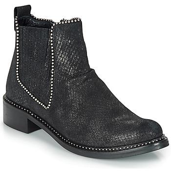 Zapatos Mujer Botas de caña baja Regard ROAL V1 CROSTE SERPENTE PRETO Negro