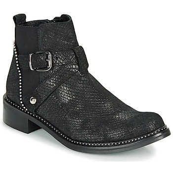 Zapatos Mujer Botas de caña baja Regard ROALA V1 CROSTE SERPENTE PRETO Negro