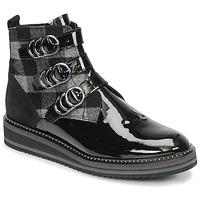 Zapatos Mujer Botas de caña baja Regard ROCPOL V3 VERNIS Negro