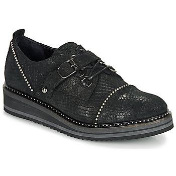 Zapatos Mujer Derbie Regard ROCTALOX V2 TOUT SERPENTE SHABE Negro