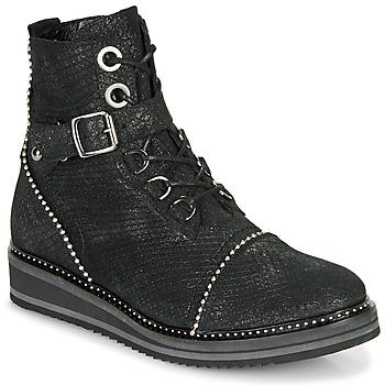 Zapatos Mujer Botas de caña baja Regard ROCTALY V2 CRTE SERPENTE SHABE Negro
