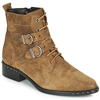 Zapatos Mujer Botas de caña baja Philippe Morvan SWAG V4 CRTE VEL Camel