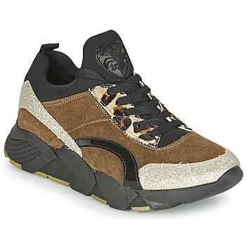 Zapatos Mujer Zapatillas bajas Philippe Morvan VERSO V2 GLITTER FIN Marrón / Negro