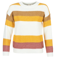 textil Mujer jerséis Roxy TRIP FOR TWO STRIPE Blanco / Amarillo