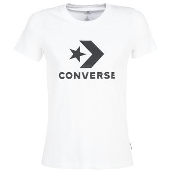 textil Mujer camisetas manga corta Converse STAR CHEVRON Blanco