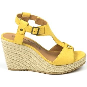 Zapatos Mujer Sandalias Chattawak sandales 7-LIVE Jaune Amarillo