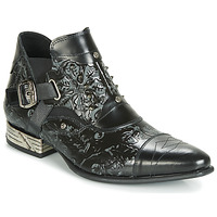 Zapatos Hombre Botas de caña baja New Rock BRAVA Negro