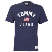 textil Hombre camisetas manga corta Tommy Jeans TJM USA FLAG TEE Marino