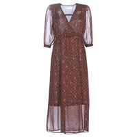 textil Mujer vestidos largos See U Soon 9221839 Negro / Rojo