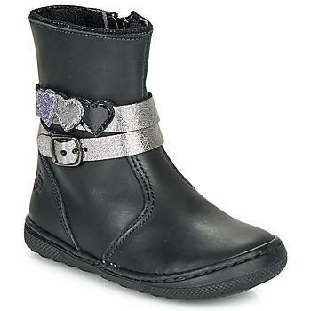 Zapatos Niña Botas de caña baja Citrouille et Compagnie LOMINE Negro