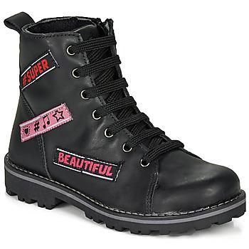 Zapatos Niña Botas de caña baja Citrouille et Compagnie LIBIDOU Negro