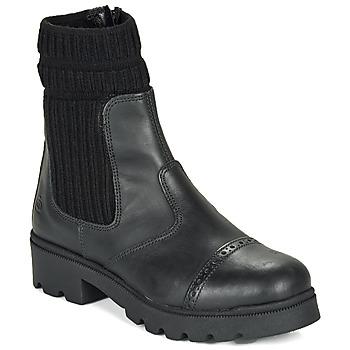 Zapatos Niña Botas de caña baja Citrouille et Compagnie LOBINOUTE Negro