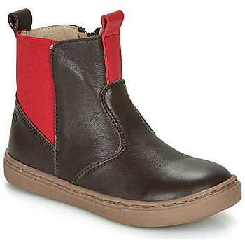 Zapatos Niño Botas de caña baja Citrouille et Compagnie JRYNE Marrón / Rojo