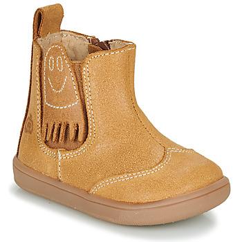 Zapatos Niño Botas de caña baja Citrouille et Compagnie LOKO Camel