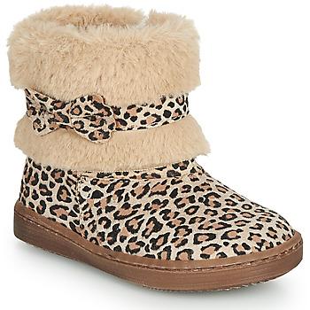 Zapatos Niña Botas de caña baja Citrouille et Compagnie LILIFA Camel / Leopardo