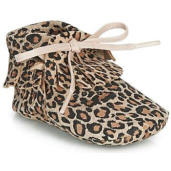 Zapatos Niña Pantuflas Citrouille et Compagnie LILIFI Camel / Leopardo