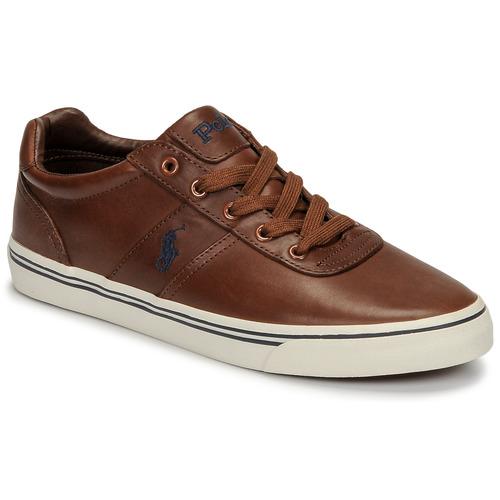 Zapatos Hombre Zapatillas bajas Polo Ralph Lauren HANFORD Cognac
