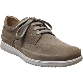 Zapatos Hombre Derbie Mephisto Thibault Terciopelo Topo