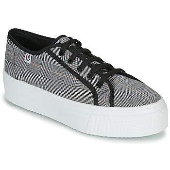 Zapatos Mujer Zapatillas bajas Yurban SUPERTELA Negro / Blanco