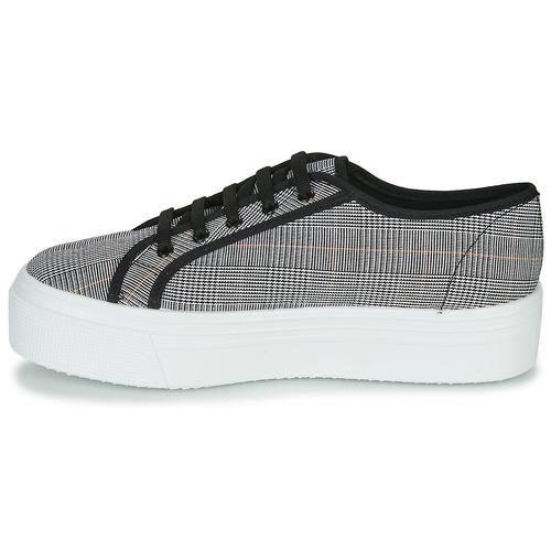 Yurban Supertela Negro / Blanco - Envío Gratis Zapatos Deportivas Bajas Mujer 38