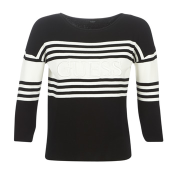 textil Mujer jerséis Guess VIOLANTE Negro / Blanco