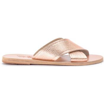 Zapatos Mujer Sandalias Ancient Greek Sandals Chancla Thais de piel roja Rosa