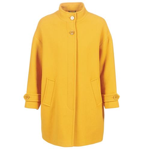 Benetton STORI Amarillo - Envío gratis | ! - textil Abrigos Mujer