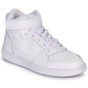 Zapatos Niños Zapatillas altas Nike COURT BOROUGH MID PRE-SCHOOL Blanco