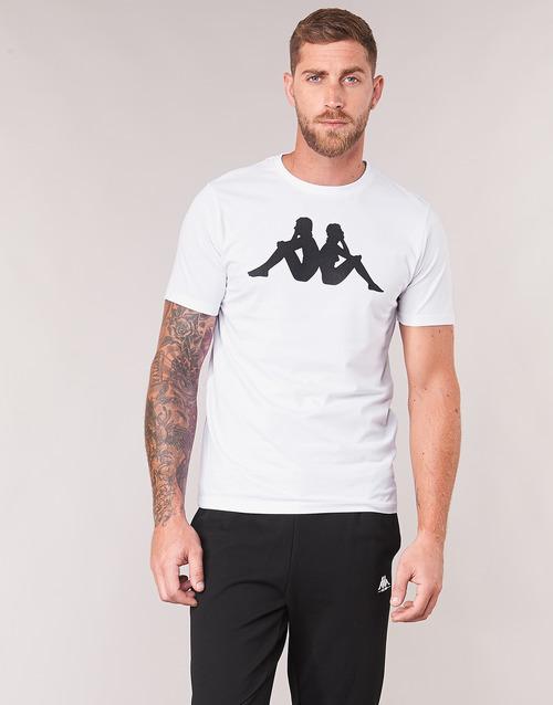 Estesso Kappa Blanco Hombre Camisetas Textil Manga Corta c34RA5jLq