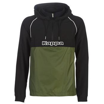 textil Hombre Cortaviento Kappa RISANO Negro / Kaki