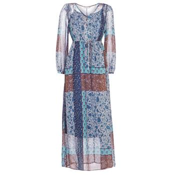textil Mujer vestidos largos Cream SAMA Azul / Marrón