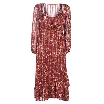 textil Mujer vestidos largos Cream NILA Rojo