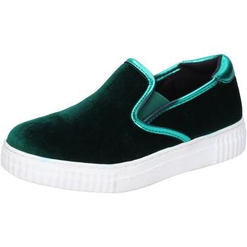 Zapatos Mujer Slip on Francescomilano slip on velluto verde