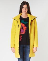 textil Mujer Abrigos Desigual LAND Amarillo
