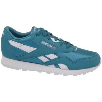 Zapatos Niños Zapatillas bajas Reebok Sport CL Nylon MU Blanco,Verdes