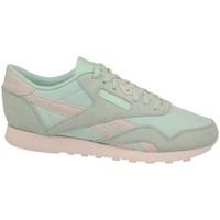 Zapatos Mujer Zapatillas bajas Reebok Sport CL Nylon Rosa, Verde claro