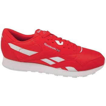 Zapatos Hombre Zapatillas bajas Reebok Sport CL Nylon Color Blanco, Rojos