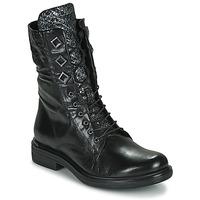 Zapatos Mujer Botas de caña baja Mjus CAFE METAL Negro / Serpiente