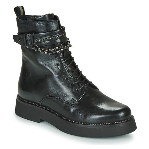 De Triple Negro Botas Caña Baja Zapatos Mujer Strap Mjus OZuPXik