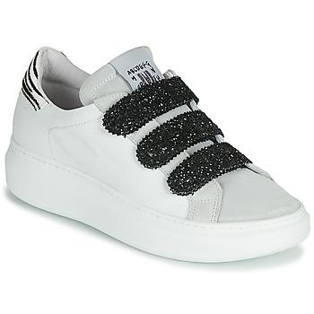 Zapatos Mujer Zapatillas bajas Meline SCRATCHO Blanco / Glitter
