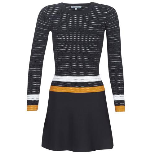 Morgan ROXFA Marino / Blanco / Amarillo - Envío gratis | ! - textil vestidos cortos Mujer