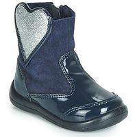 Zapatos Niña Botas de caña baja Gioseppo BUCKLAND Marino / Plata
