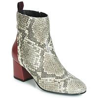Zapatos Mujer Botines Gioseppo NEUBURG Serpiente / Burdeo